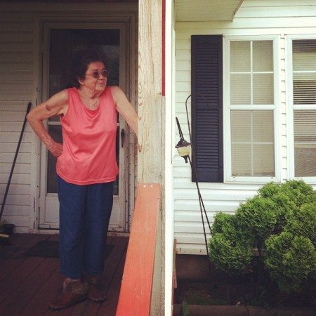 Judy Eckert stairs at the remnants of a fracked shale well 450ft from her home, on a neighbor's property. Her story is featured in the documentary, Triple Divide, and reveals how radioactive waste pits are being illegally buried in Pennsylvania without accountability or prevention from state regulators. Her case also uncovers ways in which clean pre-drill water testing is being dismissed or unaccounted for after a homeowner experiences water contamination, freeing gas companies from liability. Even after Triple Divide exposed these groundbreaking facts by way of research into state documents, Judy's received zero visits from the local or national media, outside of Public Herald. photo: J.B. Pribanic