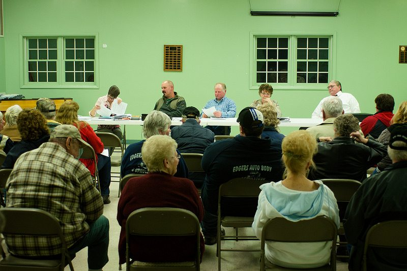 fracking tank farm smithfield twp meeting 2014